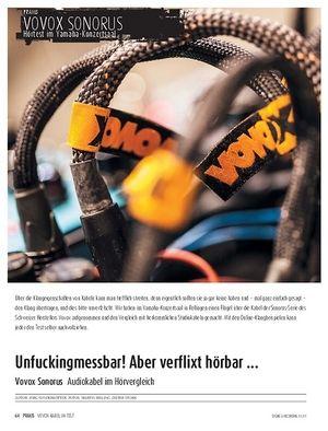 Sound & Recording Vovox Sonorus - Audiokabel im Hörvergleich