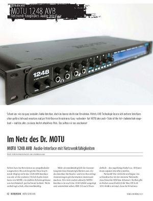 Sound & Recording MOTU 1248 AVB - Audio-Interface mit Netzwerkfähigkeiten