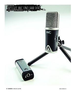 Sound & Recording Apogee MiC 96k und jam 96k - USB-Mikrofon und Hi-Z Gitarren-Interface