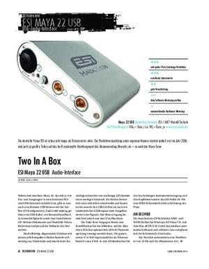 Sound & Recording ESI Maya 22 USB - Audio-Interface