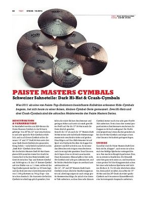 Sticks Paiste Masters Cymbals