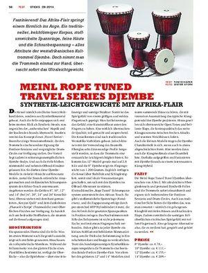 Sticks Meinl Rope Tuned Travel Series Djembe