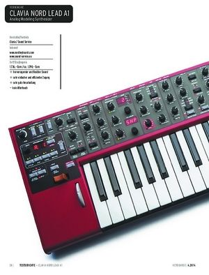Keyboards Clavia Nord Lead A1 - Analog Modeling Synthesizer