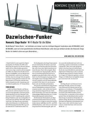 Keyboards Nowsonic Stage Router - Wi-Fi-Router für die Bühne