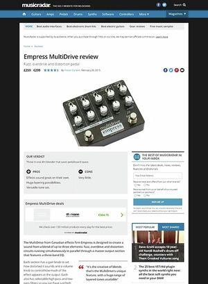 MusicRadar.com Empress MultiDrive