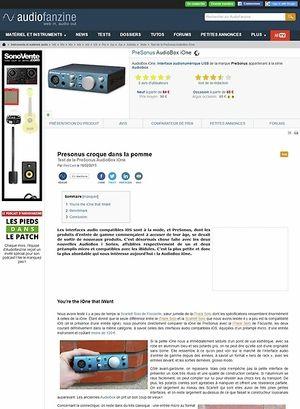 Audiofanzine.com PreSonus AudioBox iOne