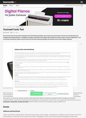Bonedo.de Kurzweil Forte