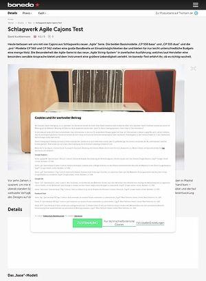 Bonedo.de Schlagwerk Agile Cajons