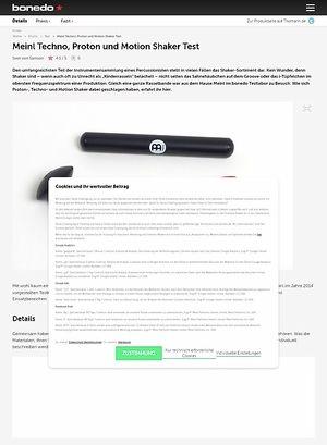 Bonedo.de Meinl Techno, Proton und Motion Shaker