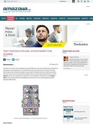 Amazona.de Test: Digitech Polara, Effektgerät für Gitarre