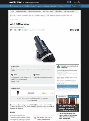 MusicRadar.com AKG D40