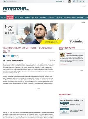 Amazona.de Test: Montreux Guitar Parts, Relic Guitar Parts