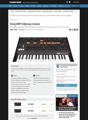 MusicRadar.com Korg ARP Odyssey