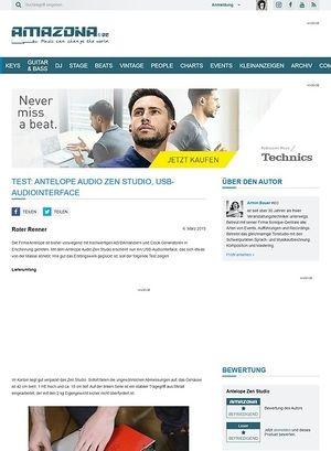 Amazona.de Test: Antelope Audio Zen Studio, USB-Audiointerface