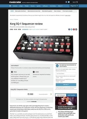 MusicRadar.com Korg SQ-1 Sequencer