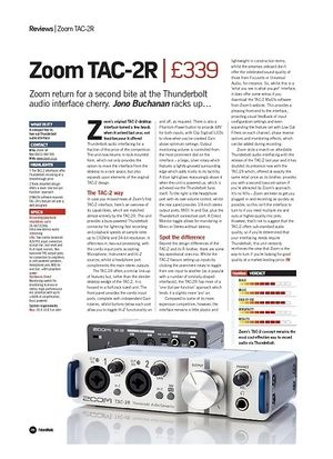Future Music Zoom TAC-2R