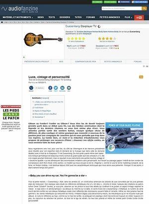 Audiofanzine.com Duesenberg Starplayer TV