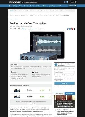 MusicRadar.com PreSonus AudioBox iTwo