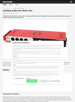 Bonedo.de Antelope Audio Zen Studio