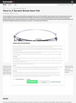 Bonedo.de Tama S.L.P. Dynamic Bronze Snare