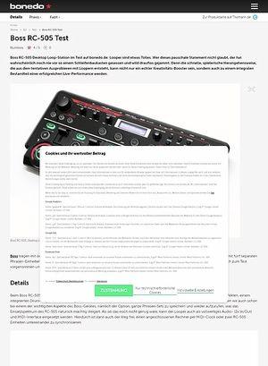 Bonedo.de Boss RC-505