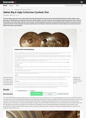 Bonedo.de Sabian Big & Ugly Collection Cymbals