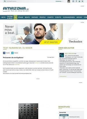 Amazona.de Test: Numark M4, DJ-Mixer