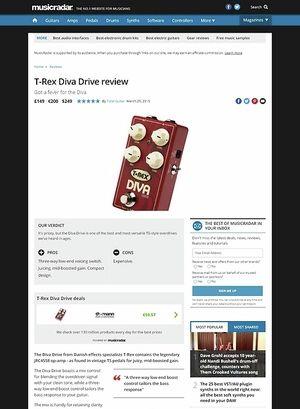 MusicRadar.com T-Rex Diva Drive