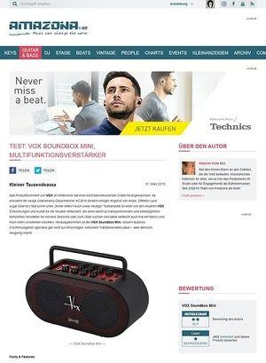 Amazona.de Test: VOX Soundbox Mini, Multifunktionsverstärker