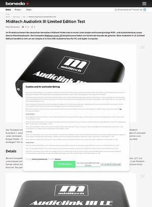 Bonedo.de Miditech Audiolink III Limited Edition