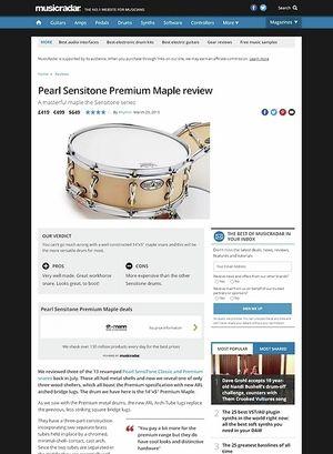MusicRadar.com Pearl Sensitone Premium Maple
