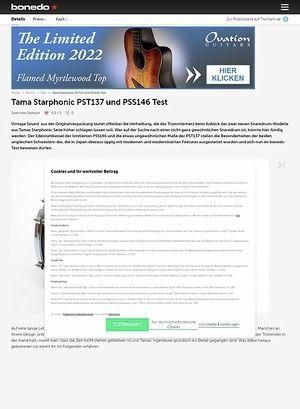 Bonedo.de Tama Starphonic PST137 und PSS146