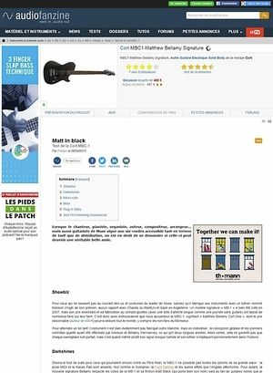 Audiofanzine.com Cort MBC1 Matthew Bellamy Signature