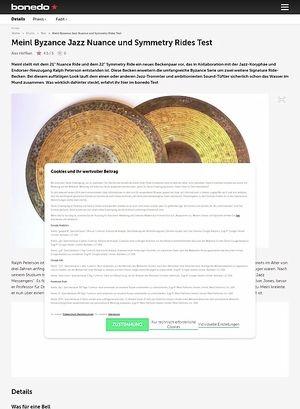 Bonedo.de Meinl Byzance Jazz Nuance und Symmetry Rides