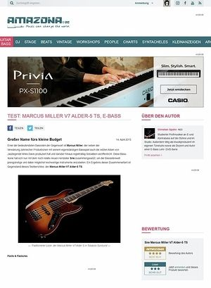 Amazona.de Test: Marcus Miller V7 Alder-5 TS, E-Bass