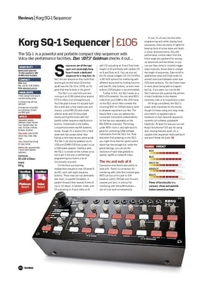 Future Music Korg SQ-1