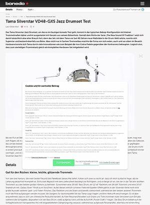 Bonedo.de Tama Silverstar Jazz Drumset