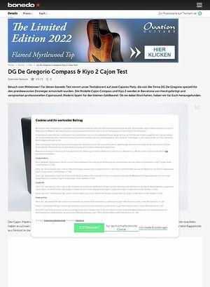 Bonedo.de DG De Gregorio Compass & Kiyo 2 Cajon
