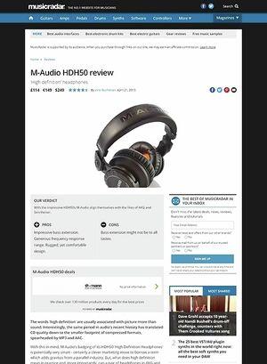 MusicRadar.com M-Audio HDH50