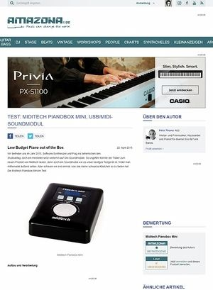 Amazona.de Test: Miditech Pianobox Mini, USB/MIDI-Soundmodul
