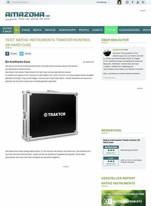 Amazona.de Test: Native Instruments Traktor Kontrol S8 Hard Case