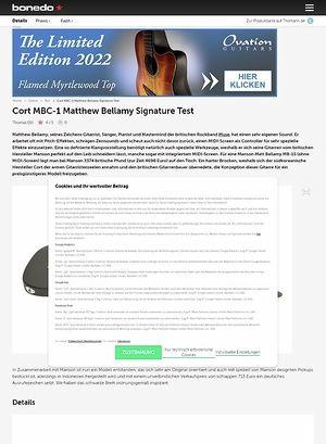 Bonedo.de Cort MBC-1 Matthew Bellamy Signature