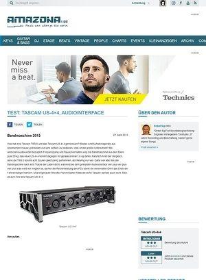 Amazona.de Test: Tascam US-4x4, Audiointerface