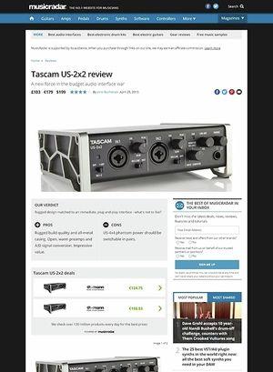 MusicRadar.com Tascam US-2x2