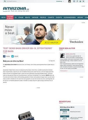 Amazona.de Test: BOSS Bass Driver BB-1X, Effektgerät für Bass