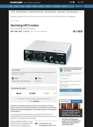 MusicRadar.com Steinberg UR12