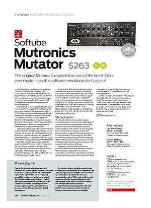 Computer Music Softube Mutronics Mutator