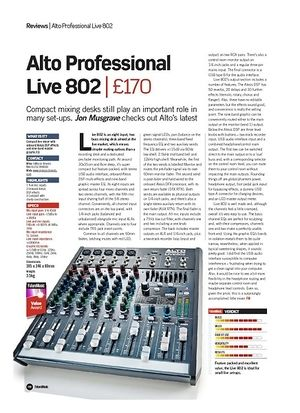 Future Music Alto Professional Live 802