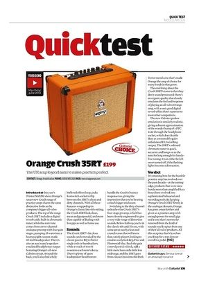 Guitarist Orange Crush 35RT