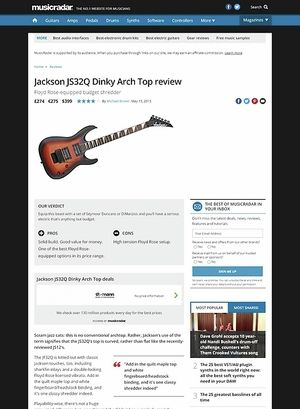 MusicRadar.com Jackson JS32Q Dinky Arch Top